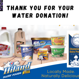 Thank you Hiland Dairy