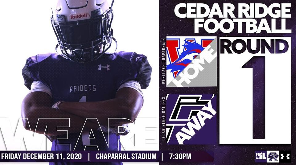 Get your Tickets to the Cedar Ridge Vs Westlake Game
